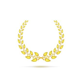 Corona de laurel dorado