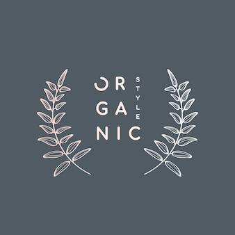 Corona de laurel de estilo orgánico