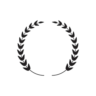 Corona de laurel negro fino