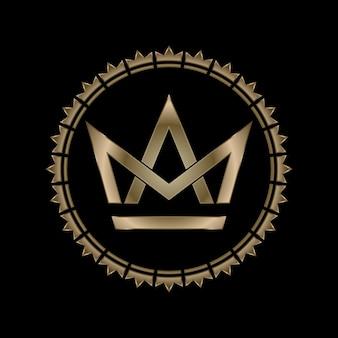 Corona letra m y a efecto real