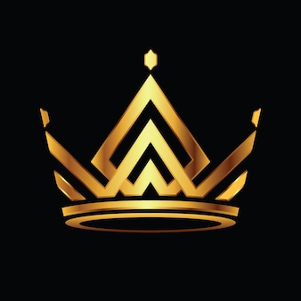 Corona moderna logo royal king queen vector logo abstracto