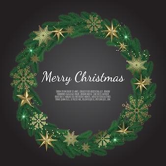 Corona de navidad aislado sobre fondo blanco.