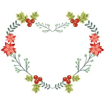 Corona de navidad en forma de corazón