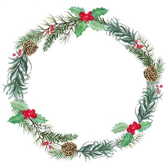 Corona de navidad de muérdago - decoración de celebración de navidad