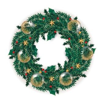 Corona de navidad realista