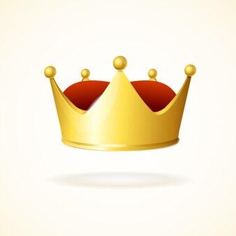 Corona de oro aislado en un blanco
