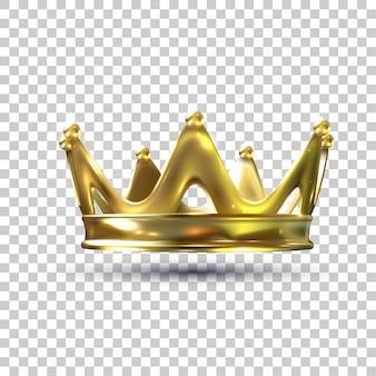 Corona de oro con ilustración de malla de degradado