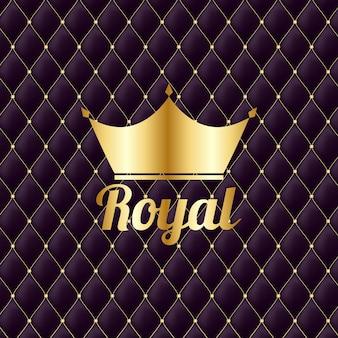 Corona de oro royal fondo de lujo vintage