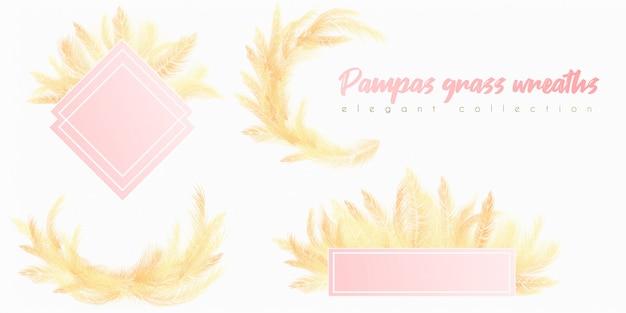 Corona de pampas doradas
