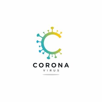 Corona virus logo signo símbolo
