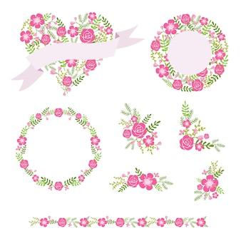 Coronas de flores y ramos de flores