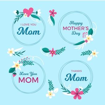 Coronas de flores para el día de la madre.