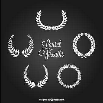 Coronas de laurel blancas