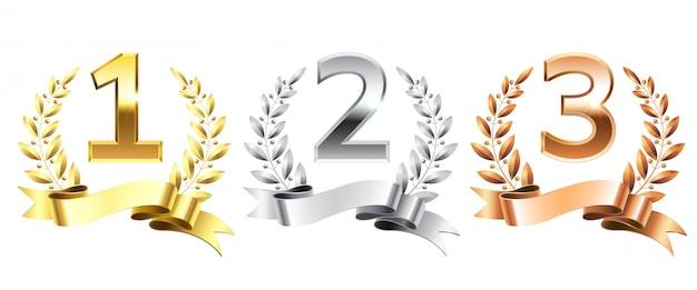 Coronas de laurel ganador