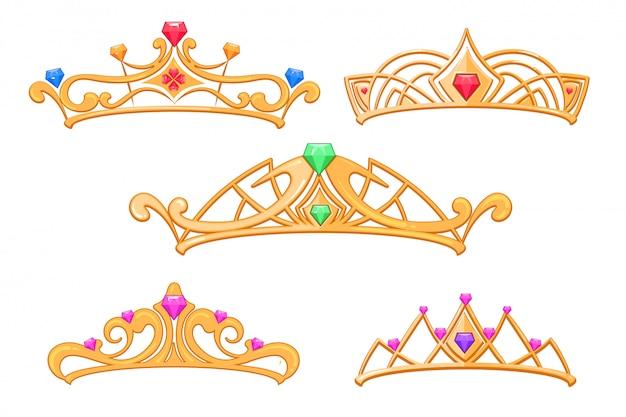 Coronas princesa vector
