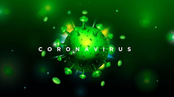 Coronavirus 2019-ncov y fondo de virus con células de enfermedad vector eps