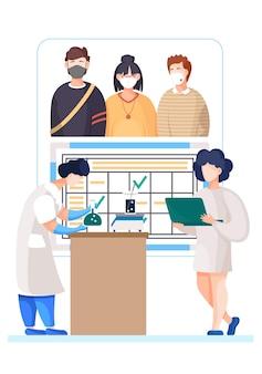 El coronavirus afecta a las personas ilustración