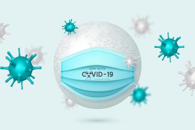 Coronavirus, concepto de virus peligroso covid-19.