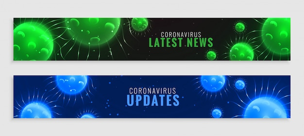 Coronavirus verde y azul covid-19 últimas noticias y actualizaciones banner