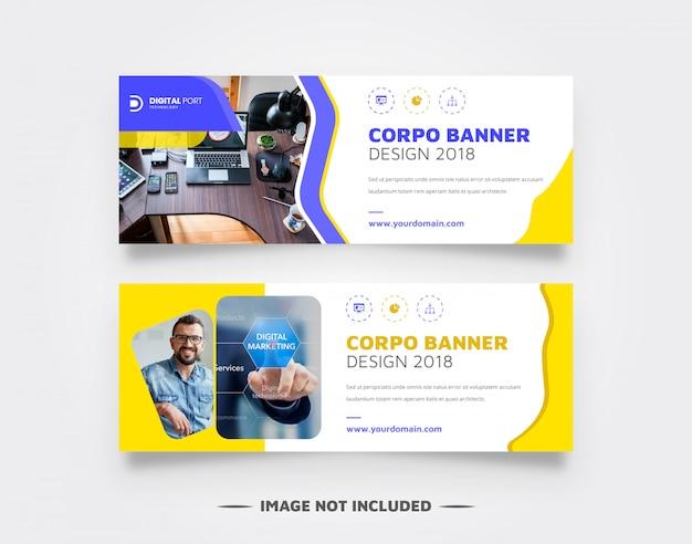 Corpo - banner web de negocios