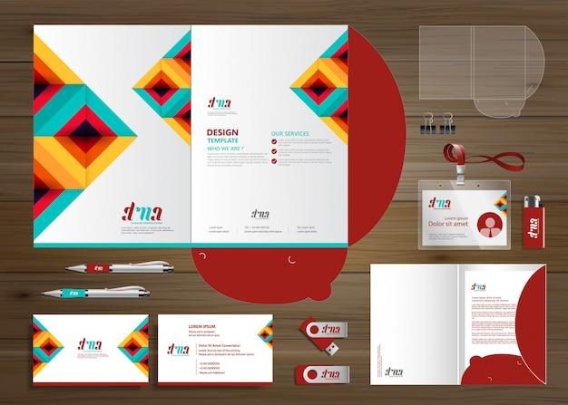 Corporate business folder technology stationery company, presentación