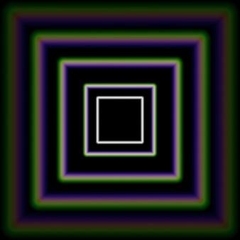 Corredor de cuadrados concéntricos brillantes