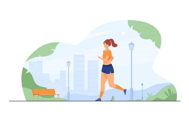 Corredor entrenando al aire libre