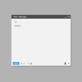 Correo electrónico plantilla en blanco correo de internet.
