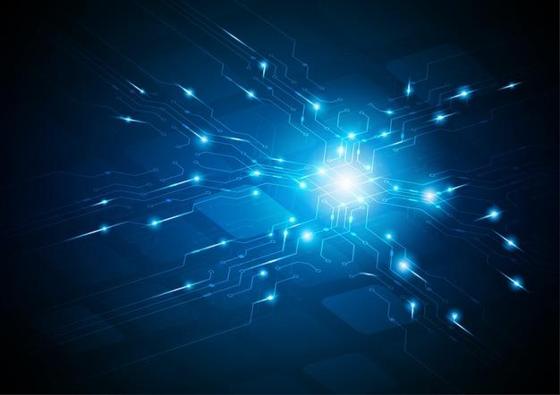 Corriente de luz, concepto de vector de tecnología.