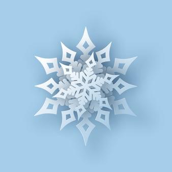Cortar el copo de nieve 3d