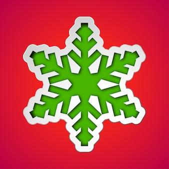 Cortar el copo de nieve de navidad
