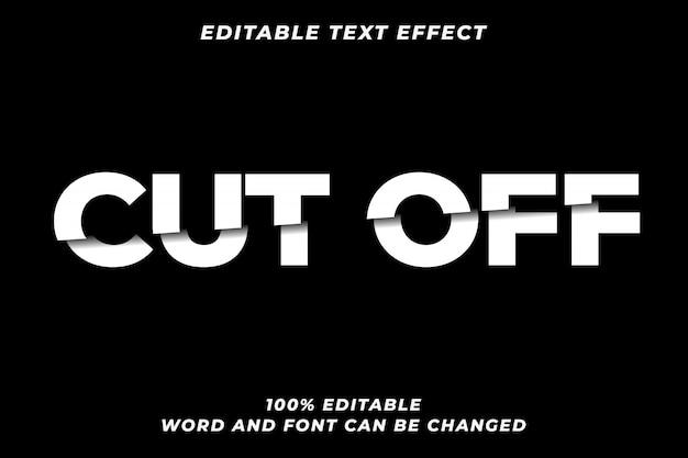 Cortar efecto de estilo de texto premium