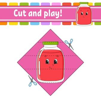 Cortar y jugar juego para niños