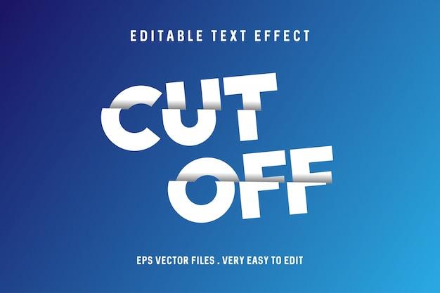 Cortar - vector de efecto de texto