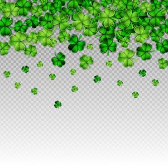 Corte de papel verde día de san patricio