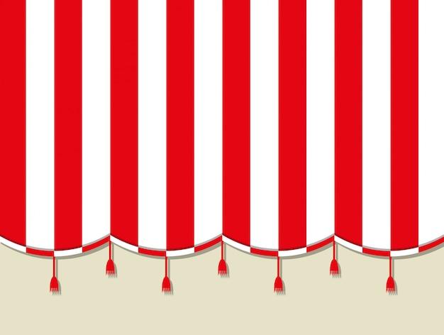Cortina de circo teatro rojo blanco