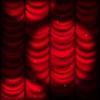 Cortina roja con luz puntual. archivo incluido