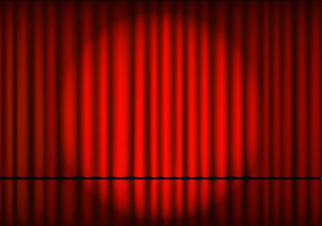 Cortina teatral roja