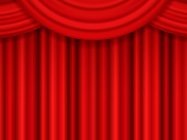 Cortina de teatro roja.