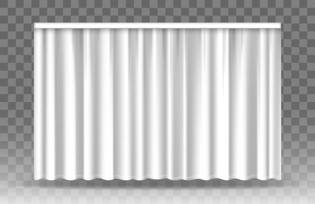 Cortinas blancas aisladas sobre fondo transparente.