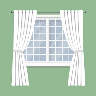 Cortinas de cortinas en la ventana