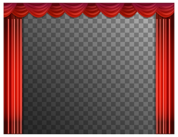 Cortinas rojas con transparentes