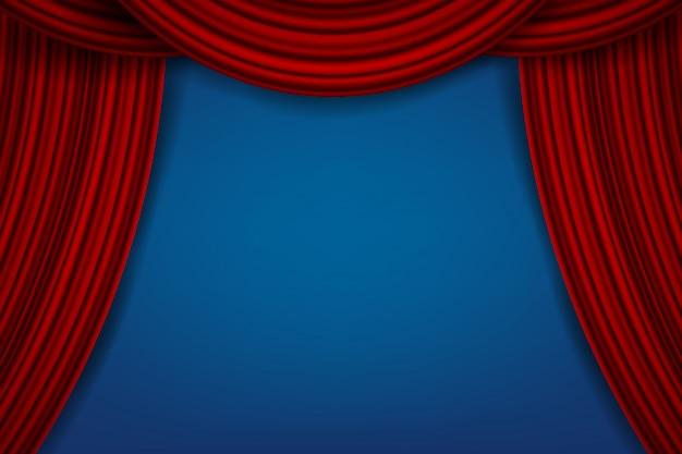 Cortinas de terciopelo de seda escarlata de lujo, cortinas de tela