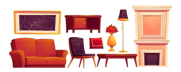 Cosas viejas de lujo de la sala de estar