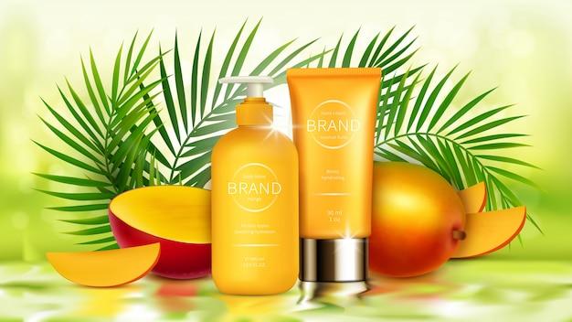Cosmética de mango tropical realista