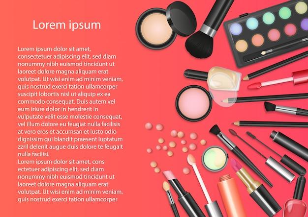 Cosméticos de belleza herramientas de maquillaje