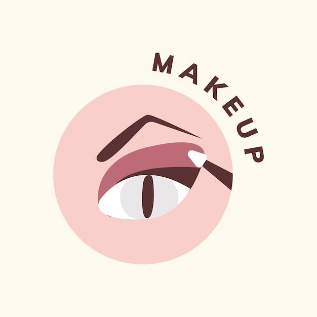 Cosméticos y maquillaje icono vector