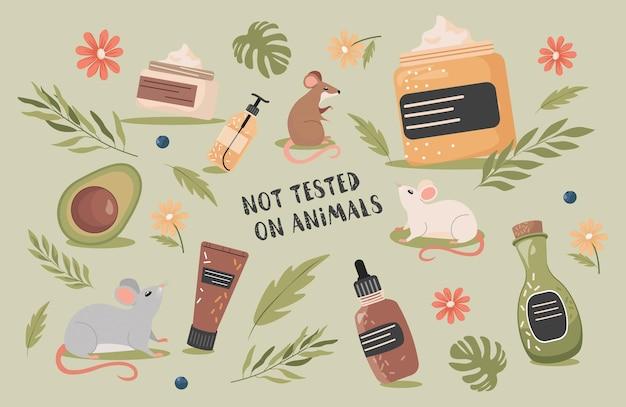 Cosméticos orgánicos naturales no testados en animales