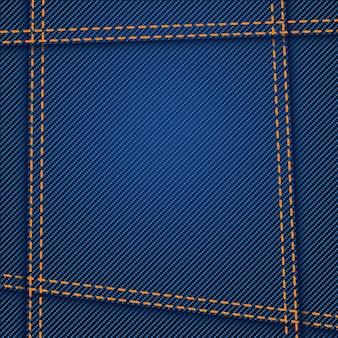 Costura de textura de jeans