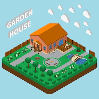 Country house isometric